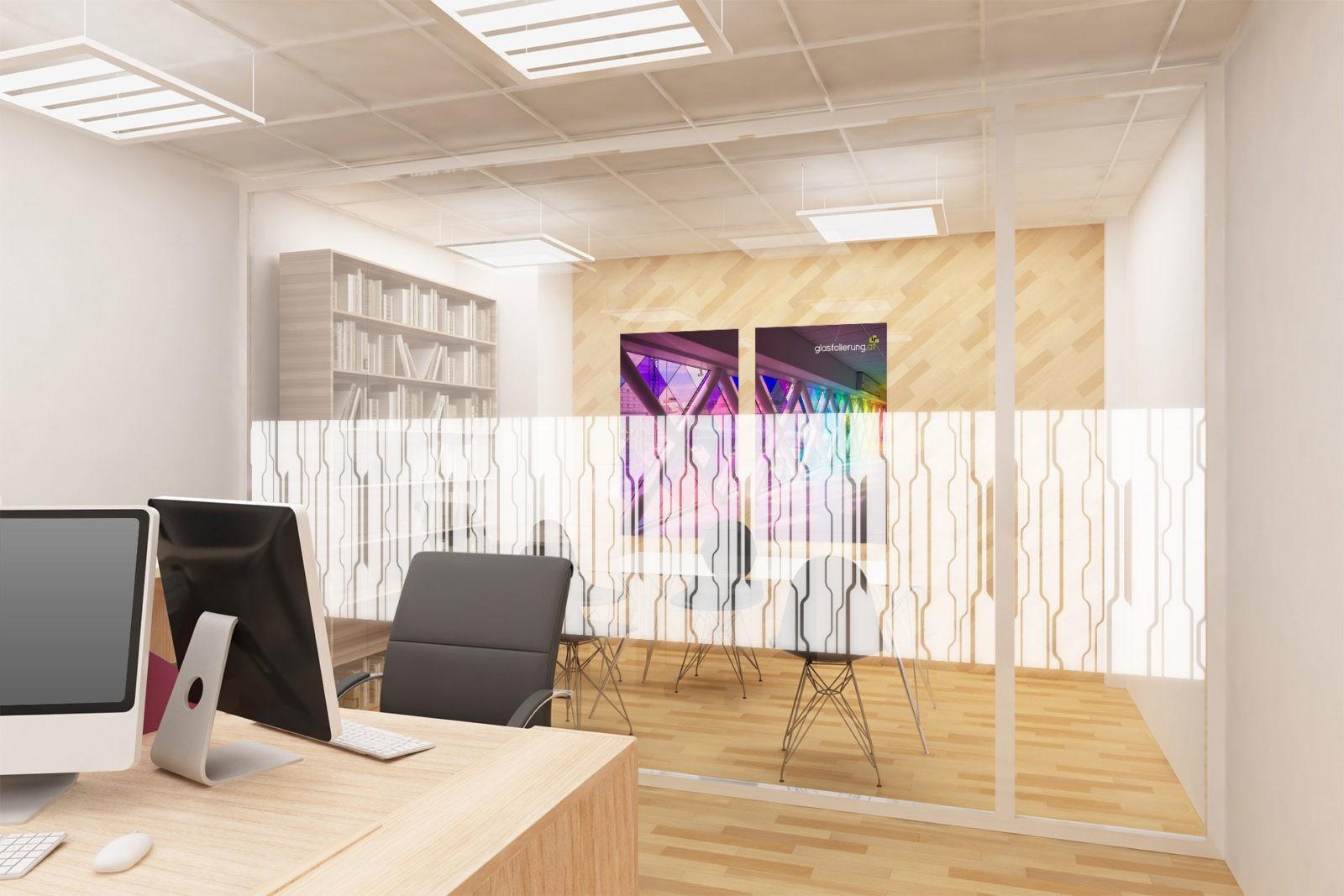 Milchglasfolien mit Muster für Büros