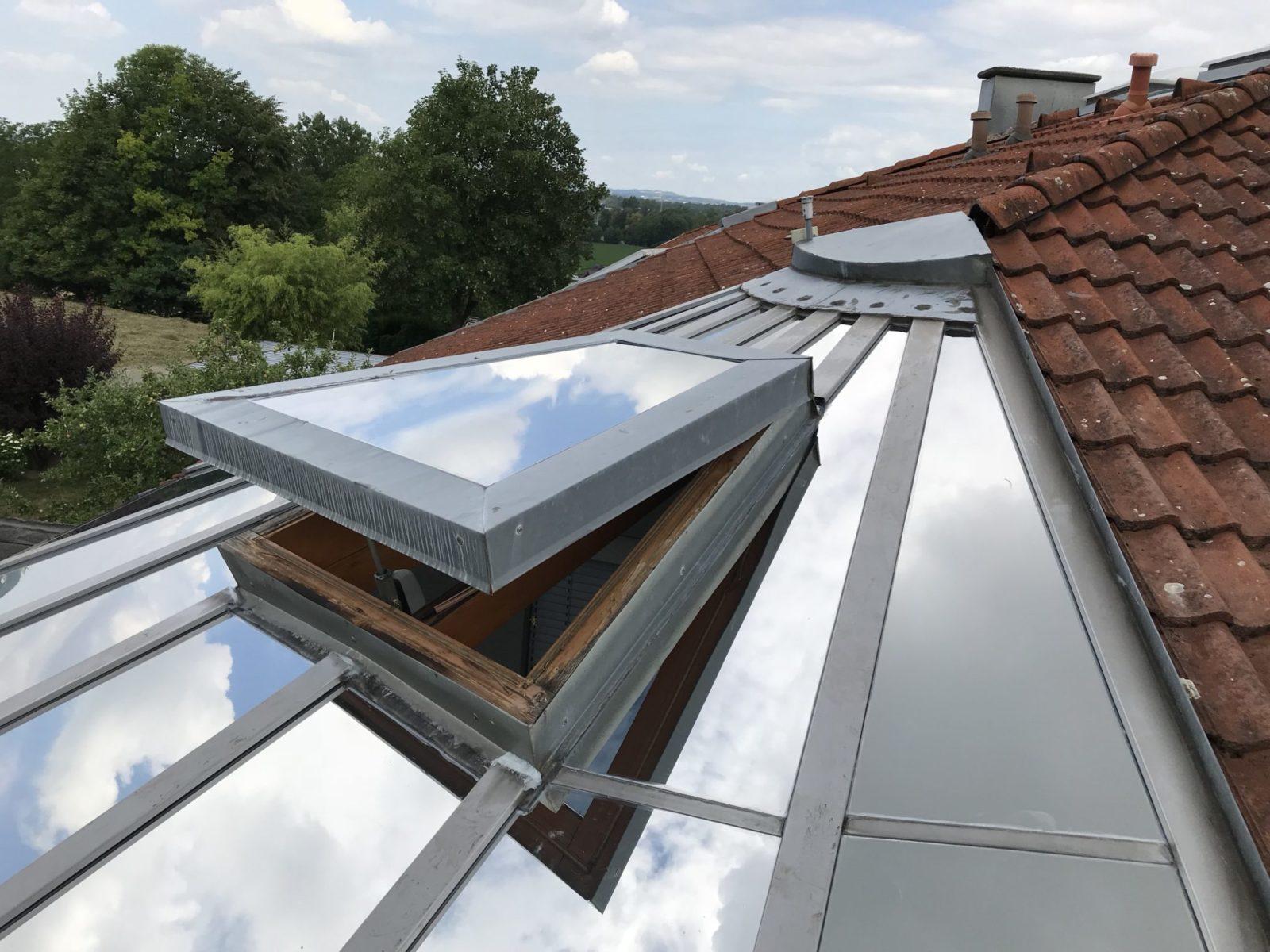 Sonnenschutzfolie Wintergarten Dachverglasung