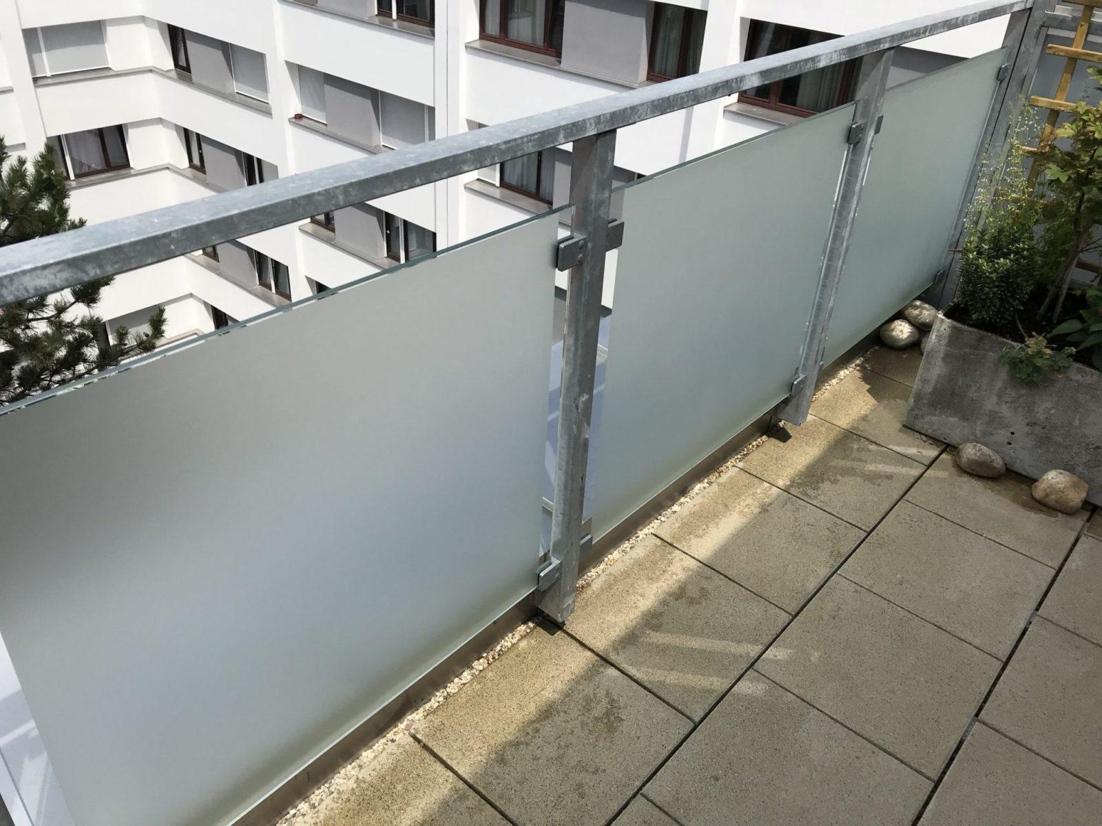 Sichtschutzfolie Balkon vollflächig Innenseite