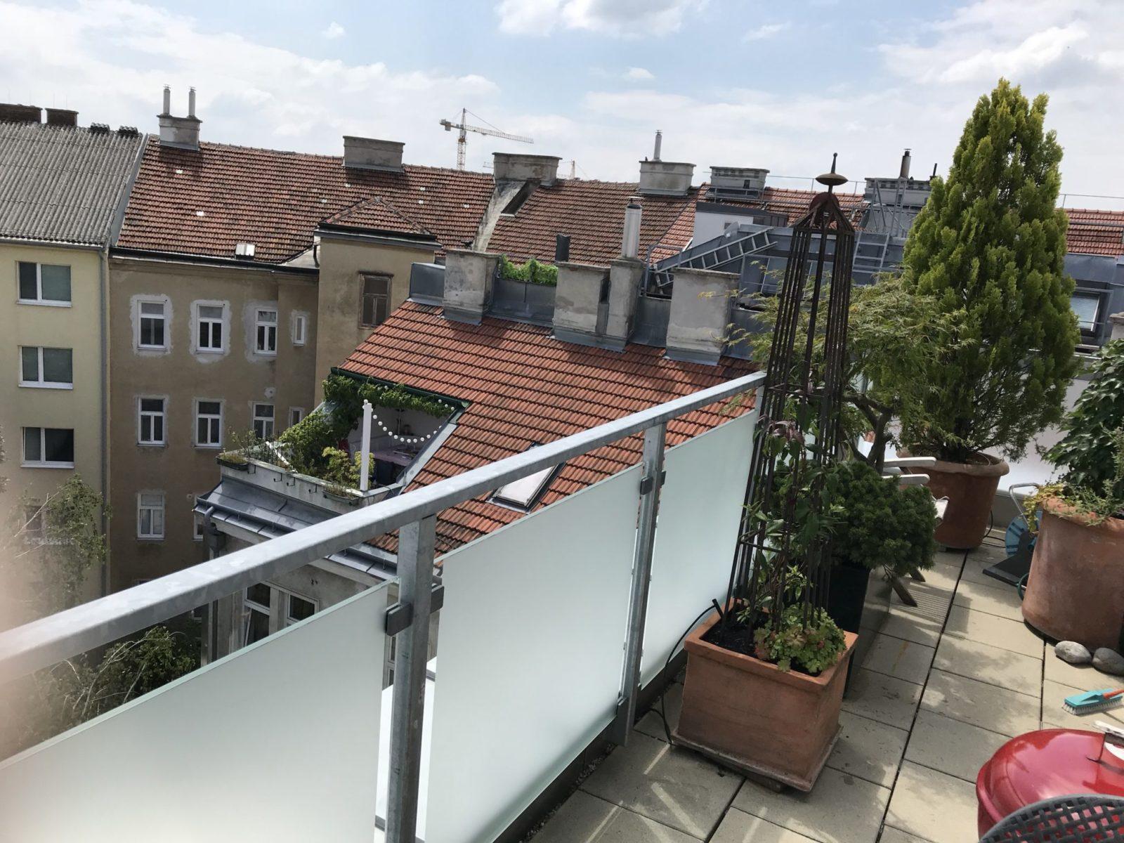 Sichtschutzfolie Balkon vollflächig