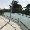 Sichtschutz Glasgeländer ohne Folie