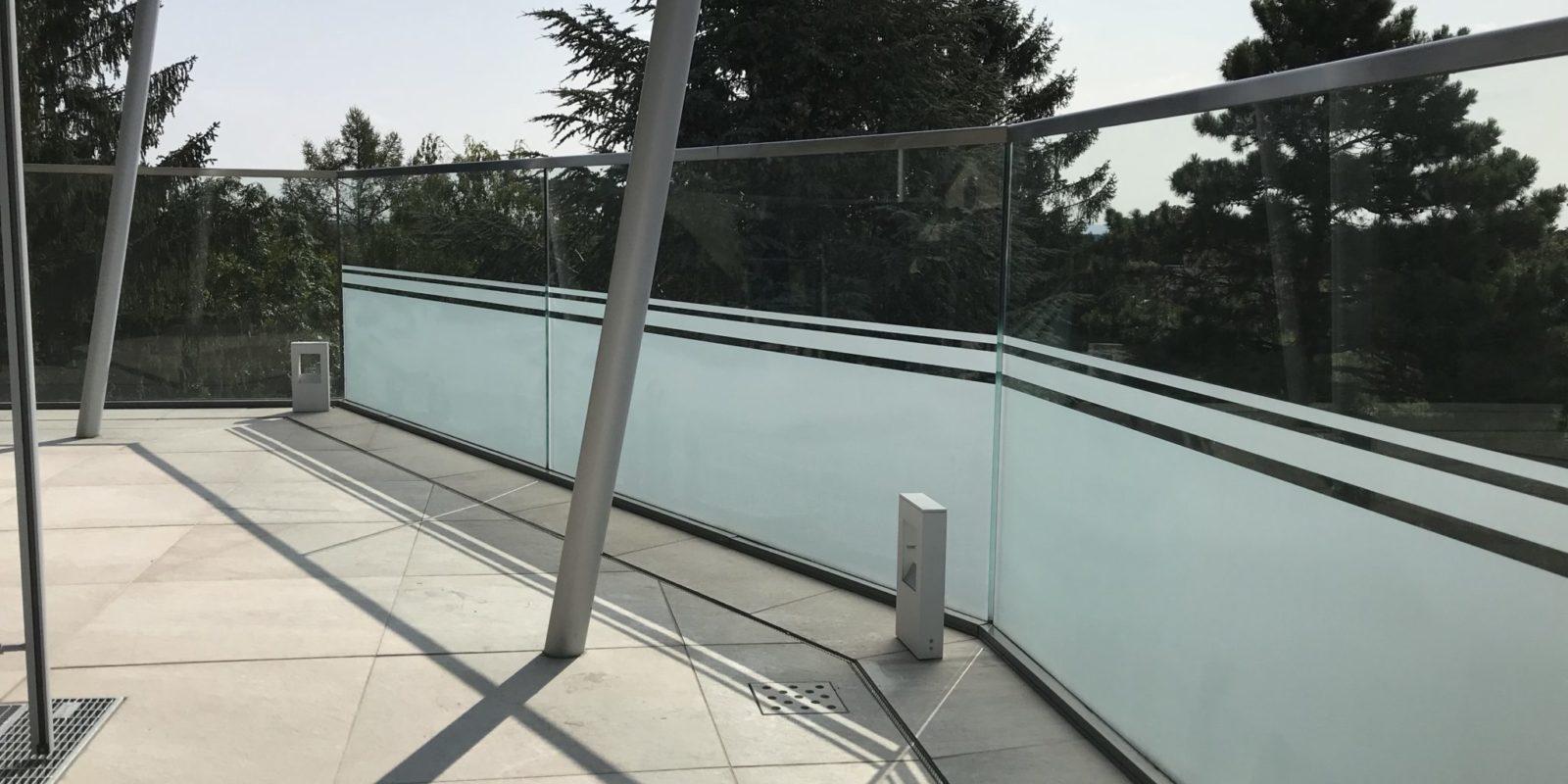 Sichtschutzfolie Glasgeländer