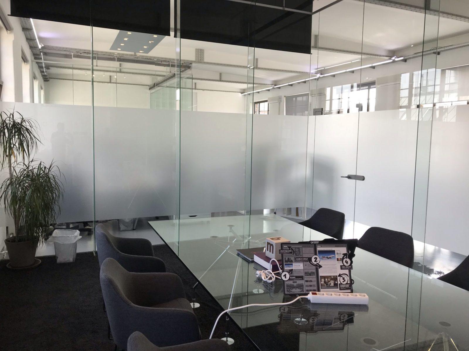 Sichtschutzfolien Büro Innenseite