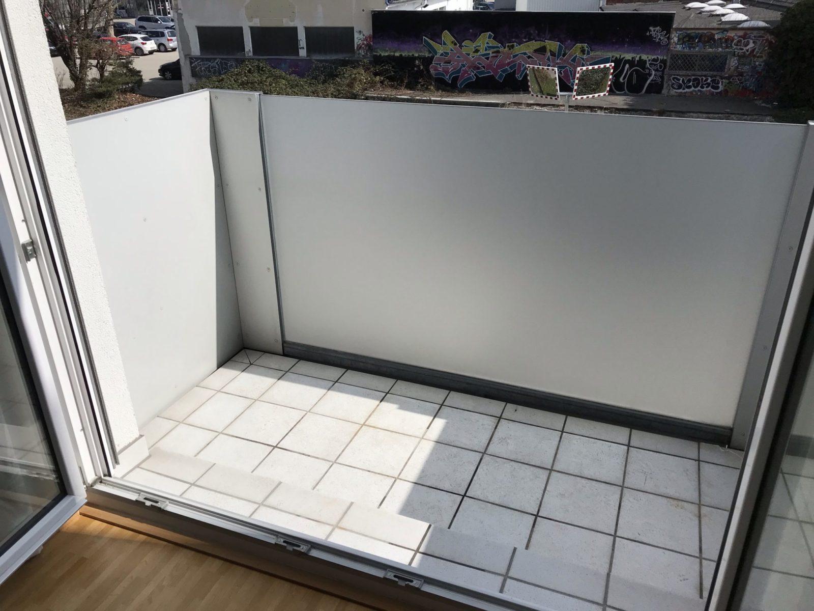Sichtschutzfolie Balkon Glasgeländer Innenseite