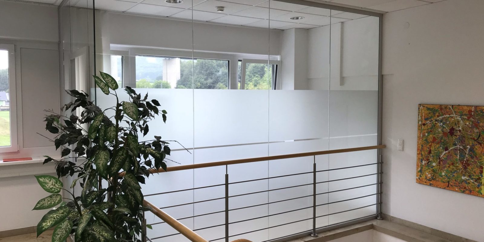 Milchglasfolie Büro