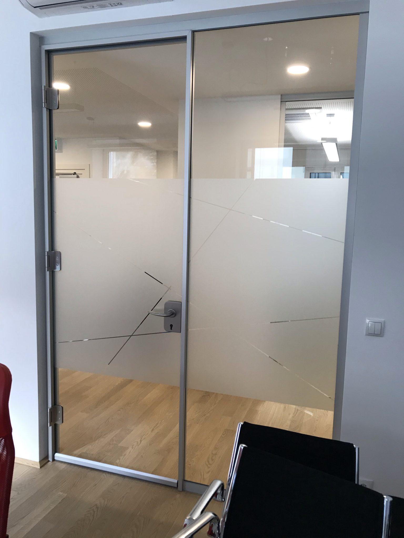 Sichtschutz auf Glas