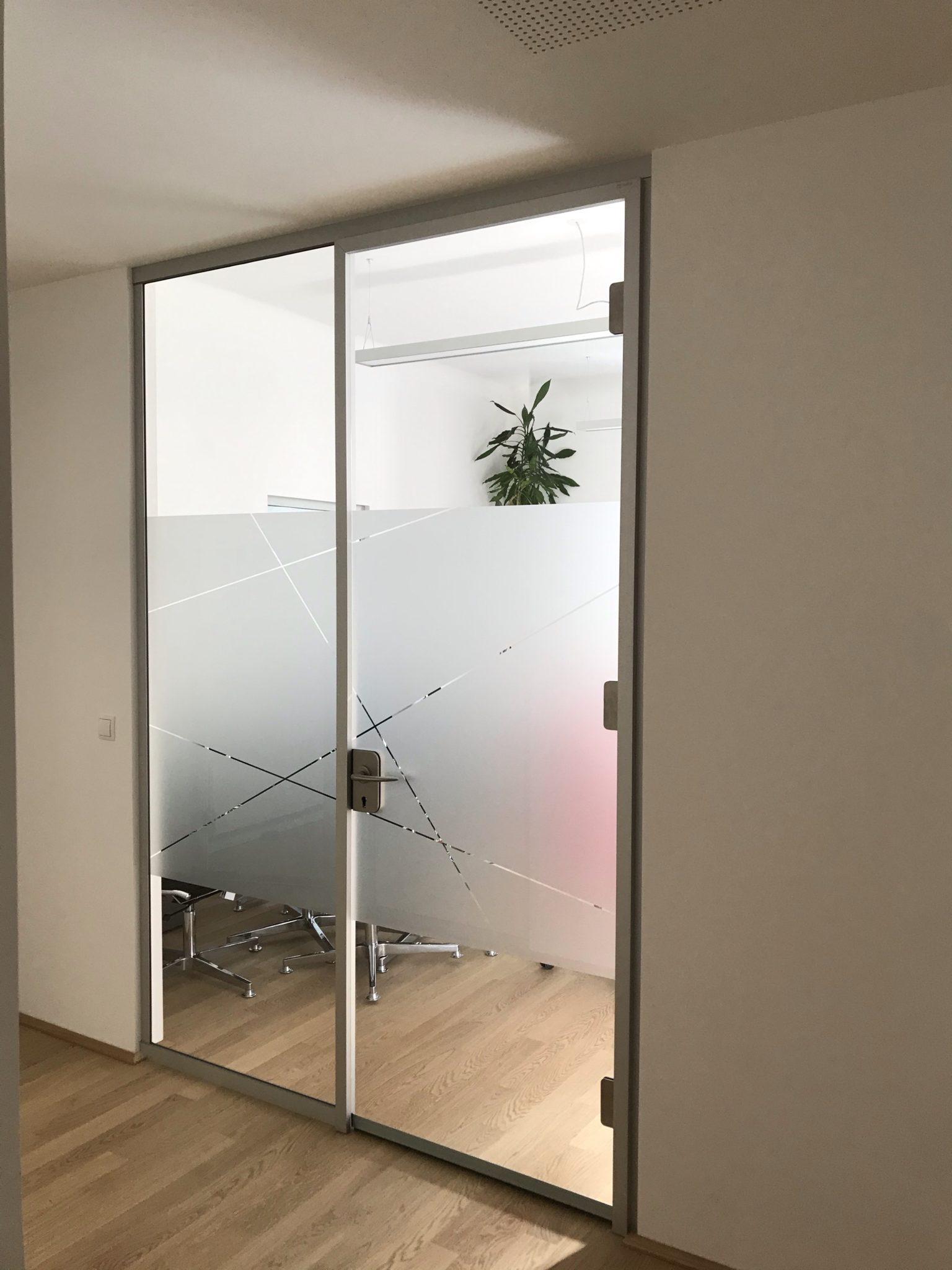 Milchglasfolie Sichtschutz Büro