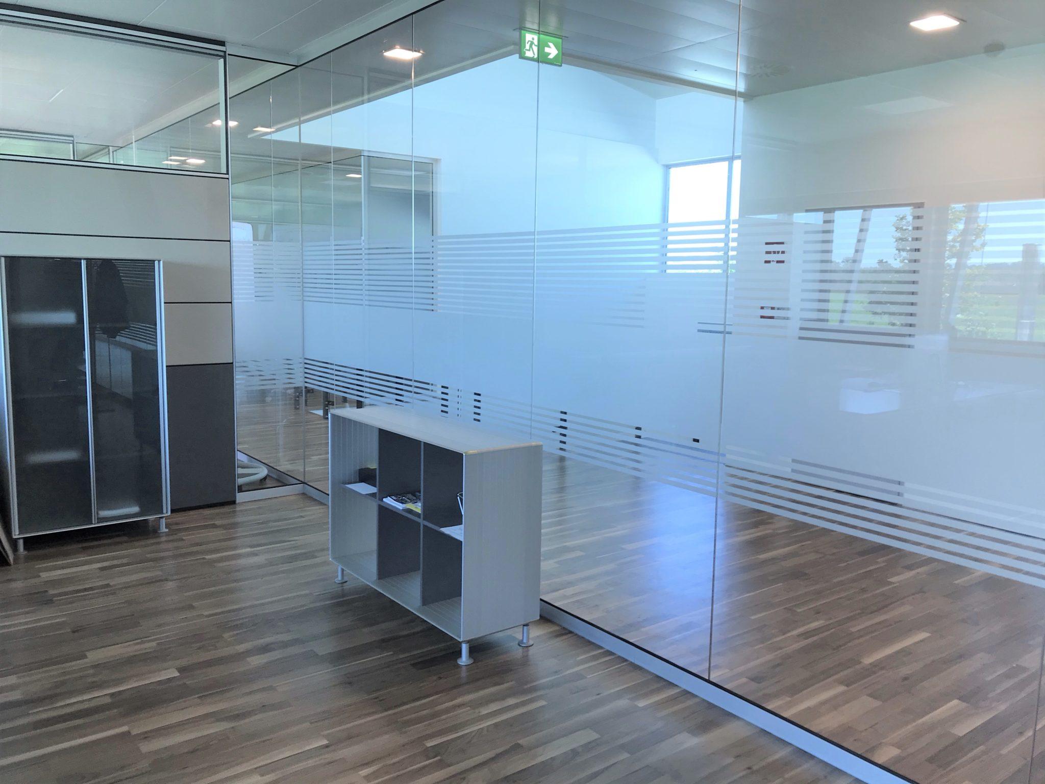 Sichtschutzfolien Büro innen